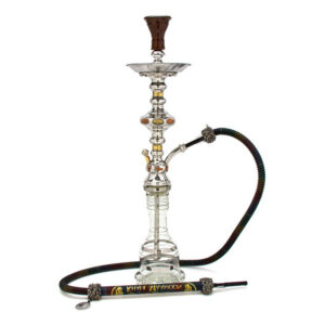 A shisha pipe on a white background.