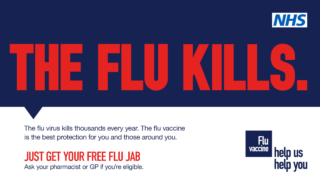 The flu kills. Get your free flu jab