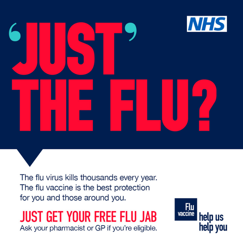 Just the flu. Get your free flu jab